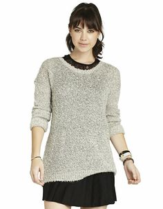BCBGENERATION Textured-Knit Tunic Dress - CHALK - Medium Long/Medium - Fashion