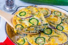 Wake Up and Eat Clean: Spicy Jalapeño Zucchini Frittata Breakfast! - Clean Food Crush