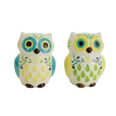 Features:  -Collectible.  -Hand painted.  -Hand wash.  Item: -Salt Shakers/Pepper Shakers/Shakers/Salt And Pepper Sets/Salt And Pepper Combination/Salt And Pepper Shaker Accessories.  Material: -Earth