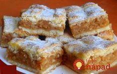 Fantastický koláčik, vyskúšajte ho napríklad z nových jabĺčok. Bakery Recipes, Dessert Recipes, Cooking Recipes, Apple Recipes, Sweet Recipes, Pretzels Recipe, Hungarian Recipes, Bread And Pastries, Cookie Desserts