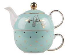 Bombay Duck Mint & Gold 'Miss Darcy' Tea For One Set- at Debenhams Mobile