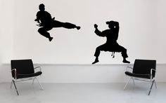 Karate Judo Ninja Black Belt Decal Sticker by VinylWallAccents Karate, Vinyl Wall Art, Wall Decals, Sticker Vinyl, Judo, Kung Fu, Boy Room, Kids Room, Ninja Birthday