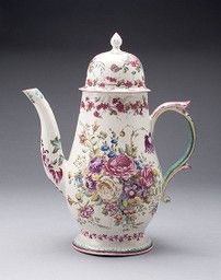 Bow Porcelain Factory London, England, 1744-1775, Coffee Pot