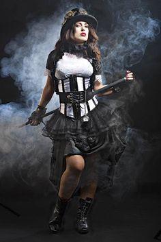 Steampunk Kostüm Nr.52 Gr.34, Leihgebühr 50,-€, Reinigung 20,-€, Kaution 50,-€ (Schuhe, Gehstock und Zylinder extra)