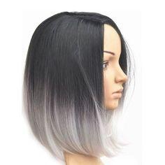 short hair ombre grey - Google Search