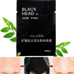 Nose Clean 10 PCS Pilaten Face Beautiful Grass Acne Mask Pores to Remove Gases Nasal Stick Pore Clean Up to Black