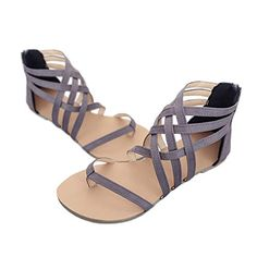 d218a9ad72391 Meedot Femmes Sandales Peep Clip Toe Chaussures Retourner Flops Plate  Chaussures Lanière Zip Herringbone Chaussures 35-43: Amazon.fr: Chaussures  et Sacs