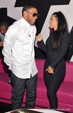 Rapper Nelly and Model Miss Shantel Jackson