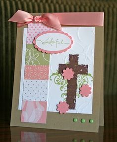 Stampin' Up! Easter Card by Krystal De Leeuw at Krystal's Cards and More: 2010
