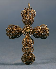 Antique Handcrafted Silver Miniature Holy Filigree Cross Pendant - http://www.busaccagallery.com/catalog.php?catid=141&itemid=6127&page=1