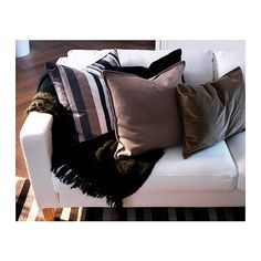 IKEA Throw and Striped Pillow for the Livingroom