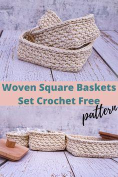 Free Crochet Square, Free Crochet Bag, Crochet Gifts, Crochet Purses, Crochet Bags, Crochet Coaster Pattern, Crochet Basket Pattern, Granny Square Crochet Pattern, Crochet Patterns
