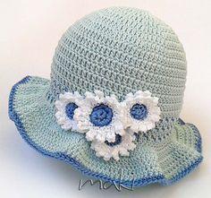 Crochet pattern  Daisy baby summer hat Summer baby by MakiCrochet