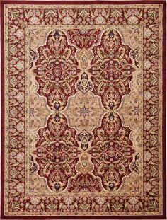 Isfahan Burgundy Area Rug