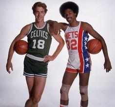 NBA/ABA merger in 1976: Dave Cowens & Julius Erving