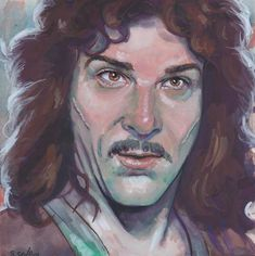 Mandy Patinkin as Inigo Montoya from the Princess Bride Done on 6x6 inch Aquabord with Winsor & Newton Gouache Paints