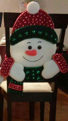 Navidad Christmas Makes, Christmas Snowman, Winter Christmas, Christmas Time, Christmas Stockings, Xmas, Christmas Ornaments, Christmas Chair, Christmas Projects