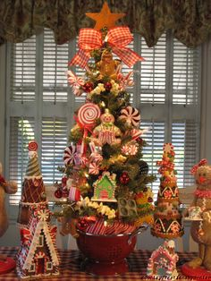 Primitive Gingerbread Candy Kitchen Christmas Tree Created by Denise | eBay
