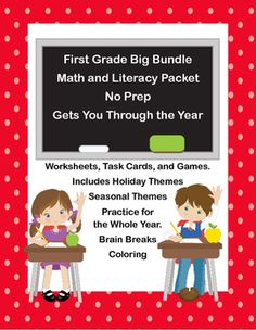 This 802 page ELA and Math collection includes a variety of materials in a variety of formats. Holiday worksheets will engage your students as well as seasonal and fun worksheets and activities will build fluency in a number of skills.To see many of my math products check this linkMath K-1Examples of two of the included ELA products can be found here.Capital Letters- Language Review Grades 1-2First Grade Sight Word Practice-Word FindsAnswer keys for all are included.