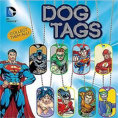 DC Comics Dog Tags 2 Inch Toy Capsules