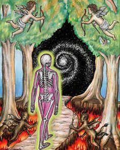 Christian Drawings, Psychedelic Drawings, Psy Art, Visionary Art, Art Sketchbook, Aesthetic Art, Art Inspo, Art Projects, Art Drawings
