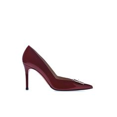 Baldinini Woman Collection: Pumps in scarlet red patent leather Online Shopping Shoes, Luxury Shoes, Italian Style, Leather Pumps, Scarlet, Kitten Heels, Woman, Red, Bags