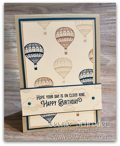 Lift Me Up Birthday Card by Leonie Schroder Independent Stampin' Up! Demonsrator Australia