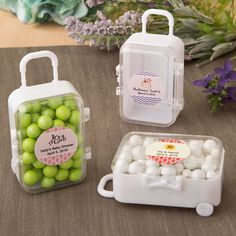 PERSONALIZED EXPRESSIONS TRAVEL THEMED MINI TRAVEL SUITCASE TROLLEY W/ RETRACTABLE HANDLE, LATCH A