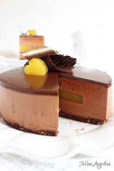 Angellove's Cooking: Шоколадова мус торта с портокали и шампанско / Chocolate Mousse Cake with Champagne Oranges Jelly