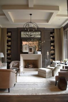transtitional style living room via belle vivir blog