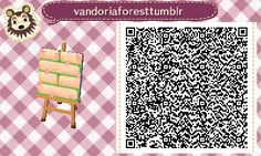 Animal Crossing QR Codes ❤VandoriaforestTumblr Off white brick path w/ moss peeking through, Roses/ roses petals , Tile #1