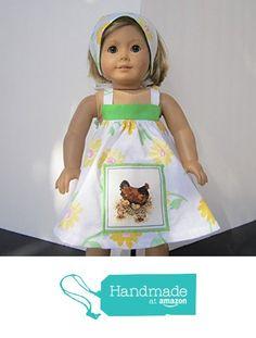 4H Farmgirl Mama & Baby Chicken Sundress + Reversible Head Scarf fits American Girl from Pawprint Pals https://www.amazon.com/dp/B06W51KQ9Q/ref=hnd_sw_r_pi_dp_Bd8MybT53B16T #handmadeatamazon