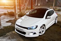 Something about that Scirocco side-eye. Scirocco Volkswagen, Vw Volkswagen, Tiguan Vw, Convertible, Vw Cars, Cars Auto, Modified Cars, Car Engine, Sexy Cars