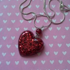 Resin Heart Pendant £15.00 By Lisa Jane