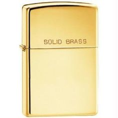Zippo 7550-21GL Windproof Lighter - High Polish Brass. Solid Brass. Lifetime warrenty. Made in USA. Bradford PA. Flame Insert.