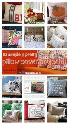 13 simple & pretty pillow cover projects!