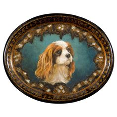 English Victorian Papier-mâché Tray With Hand-painted King Charles Spaniel Dog For Sale on – A small English Victorian era papier-mâché tray from the century with hand-painted King Charles Spaniel and mother-of-pearl inlay. This exquisite King Charles Spaniel, Cavalier King Charles, Modern Decorative Objects, Dog Jewelry, Spaniel Dog, Dog Coats, Dog Art, Animal Photography, Cute Dogs