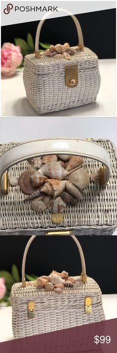 Vintage Seaside Wicker Purse •You're sure to get noticed with this Vintage Seaside Wicker Handbag •Fun Piece of Arm Candy for the Sophisticated Woman •Great Piece to Jazz Up Any Outfit •As with most all Vintage Pieces, there are imperfections •Sold As Is - No Refunds or Returns •Additional Photos or Measurements Available Upon Request •Five Star Seller Rating  •Posh Ambassador •Ships next business day excluding weekends & holidays •Thank You For Shopping my Closet…