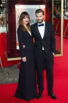 Pin for Later: Jamie Is a Gentleman With Dakota — and His Wife! — on the Red Carpet