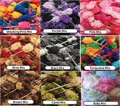 4 skeins of pom pom yarn. Choose your color from mixed by JeAdore, $12.99