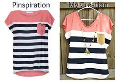 "I Make Stuff.: ""Nautical Diva"" Color Block Shirt Tutorial"