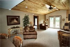 Image detail for -Ferkey Builders Photo Gallery - Interior Pictures/Knotty Pine Ceiling