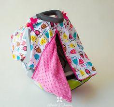 BayB Brand Car Seat Canopy - Owl