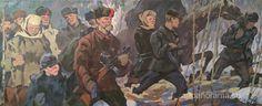 1950~1960's 'Guerrillas' (Partisans), by Gennady Grishin (Vyksa, Nizhny Novgorod region 1932~2009)