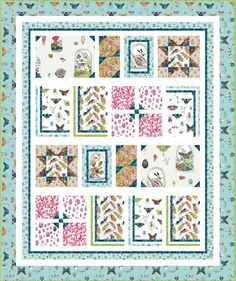 Curio Curiosities Free Quilt Pattern courtesy of Windham Fabrics Quilt Patterns Free, Free Pattern, Windham Fabrics, Quilt Top, Curiosity, Feather, Gallery Wall, Diy Projects, Butterfly