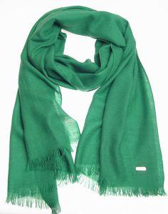 CALVIN KLEIN Pashmina Wool Cashmere Wrap Scarf - Forest Green $79
