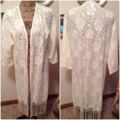 Super Cute Fringed Kimono by Cato This super cute fringed kimono is the perfect addition to your wardrobe! 100% cotton. Excellent like new condition. Cato Other