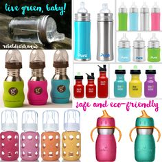 Wow! Love These Eco-Friendly Stainless Steel and Glass Baby Bottles!! :)) So cute and trendy! P.S. Whenever possible, avoid putting acidic liquids (e.g. fruit juice) in stainless steel containers as it increases the rate at which metals are leached from the container. Babies and toddlers don't need juice, anyway!!