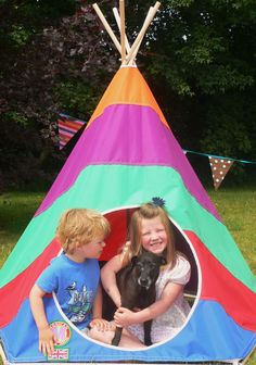 Kids Teepee by Mohican Tents: www.mohicantents.co.uk