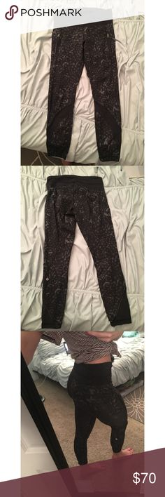High waisted 7/8 lululemon leggings Only reason for selling is because I lost weight, so they don't fit me very well right now. They are gently worn & in very good condition. They have two side zipper pockets as well as a pocket in the waistband lululemon athletica Pants Leggings